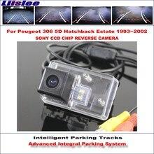 Liislee Reverse Original Style Rear Camera For Peugeot 306 5D Hatchback Estate 1993~2002 Intelligent Parking Tracks NTSC RCA AUX 1993 2002