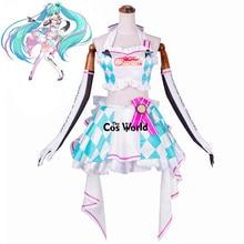 Vocaloid Hatsune Miku ראסינג חליפת צינור צמרות שמלת תלבושת אחידה אנימה Cosplay תלבושות