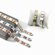 Steel Bracelet Bracelet Men Red Color Silicone Stainless Steel Bacelet