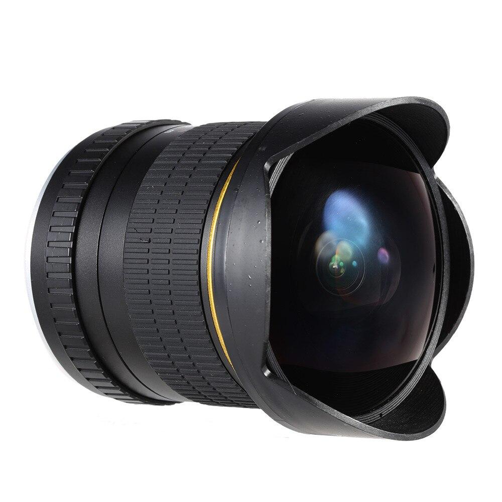 8mm F/3.5 Ultra Grand Angle Objectif Fisheye pour Canon DSLR Caméras 1500D 1200D 800D 760D 750D 700D 750D 600D 80D 70D 60D 77D 7D