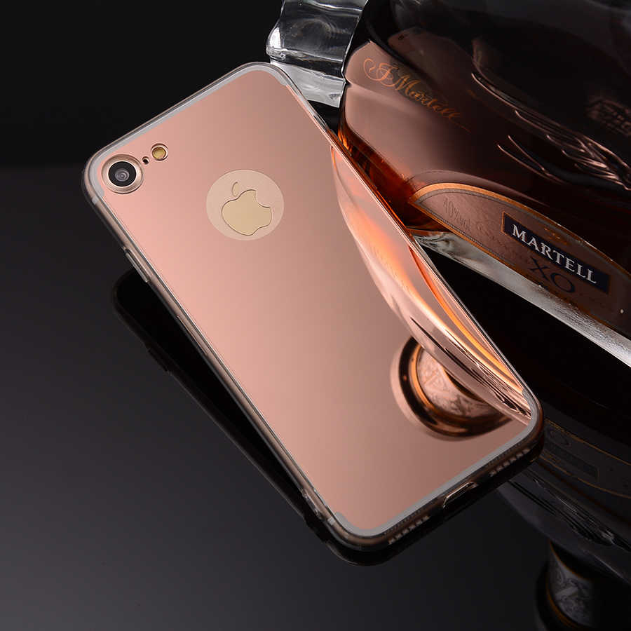 Fundas For Apple Iphone 7 Mirror Case Soft Tpu Back Cover For Iphone 7 Cases Cell Phone Shell Rose Gold Accessories Celular Etui For Iphone Iphone Covercase For Iphone Aliexpress