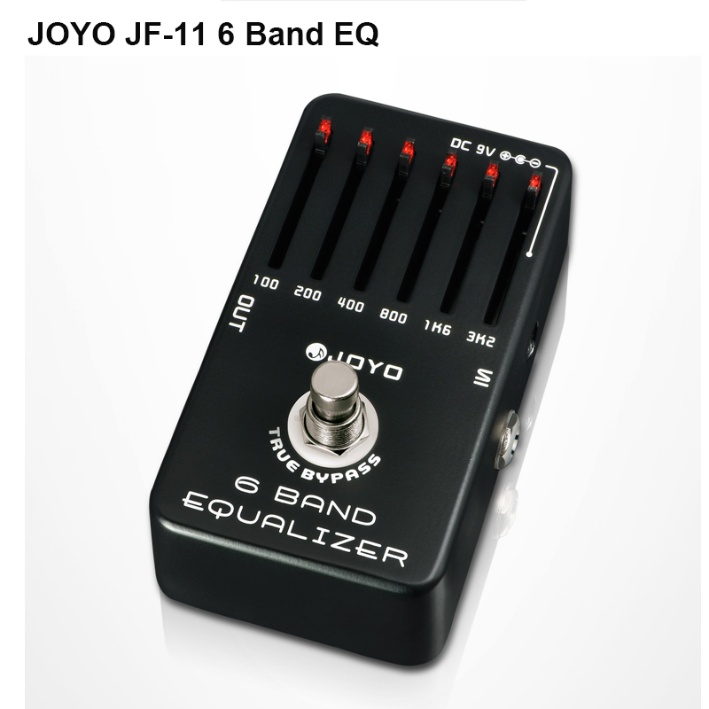 Joyo JF-11 6-Bands Equalizer effect Pro Guitar AMP Effect Pedal True Bypass , Electric Bass Dynamic Compres aroma adr 3 dumbler amp simulator guitar effect pedal mini single pedals with true bypass aluminium alloy guitar accessories