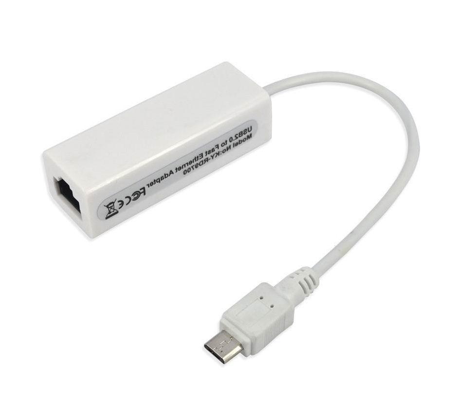 Новый Micro USB 2.0 штекерным RJ-45 женские 5-Булавки 10/100 Mbps Ethernet LAN сетевой адаптер для Оконные рамы Android портативных ПК