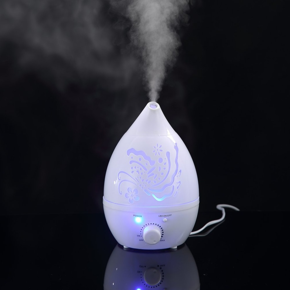 все цены на Air Humidifier LED Light Changed Essential Oil Aroma Diffuser Mist Maker Fashionable Carve Design Diffuser for Office SPA Gifts онлайн