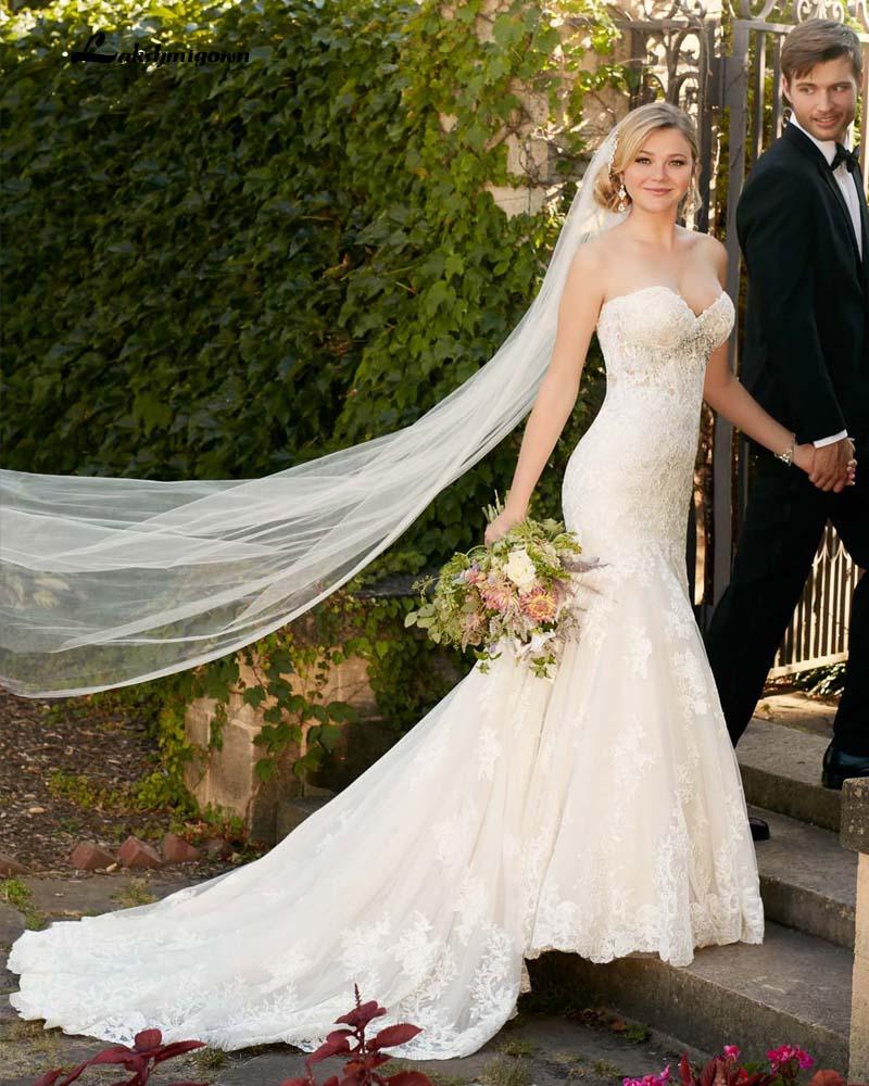 2016 Romantic Strapless A Line font b Wedding b font font b Dress b font Summer
