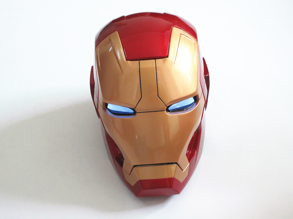 Huong Movie Figure 1:1 Avengers Iron man MK42 Helmet light Collectors Action Figure Toys Christmas Gift ModelHuong Movie Figure 1:1 Avengers Iron man MK42 Helmet light Collectors Action Figure Toys Christmas Gift Model