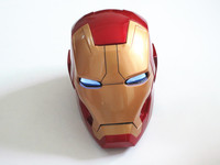 Huong Movie Figure 1:1 Avengers Iron man MK42 Helmet light Collectors Action Figure Toys Christmas Gift Model