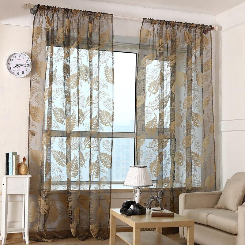 ottieni online a basso prezzo finestra di stampa voile tende casa ... - Tende Per Soggiorno Stile Moderno 2