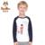 PATEMO Meninos Camisetas O-long neck Mangas Malha Tecido Branco/Amarelo Crianças Topos de Algodão Espessura Normal Primavera/Verão Vestuário