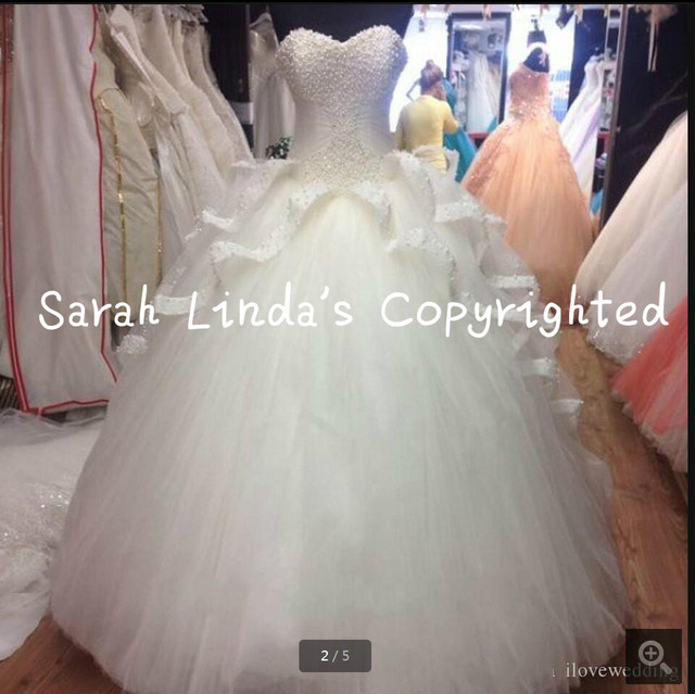 2016 vestido de bola envío gratis blanco perlas princesa del vestido ...