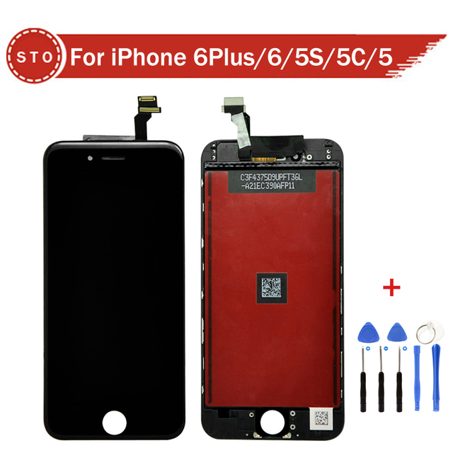Grade A++++ No Dead Pixel For iPhone 6 Plus 6 5S 5C 5 LCD Display Touch Screen With Digitizer Assembly +Tools free shipping