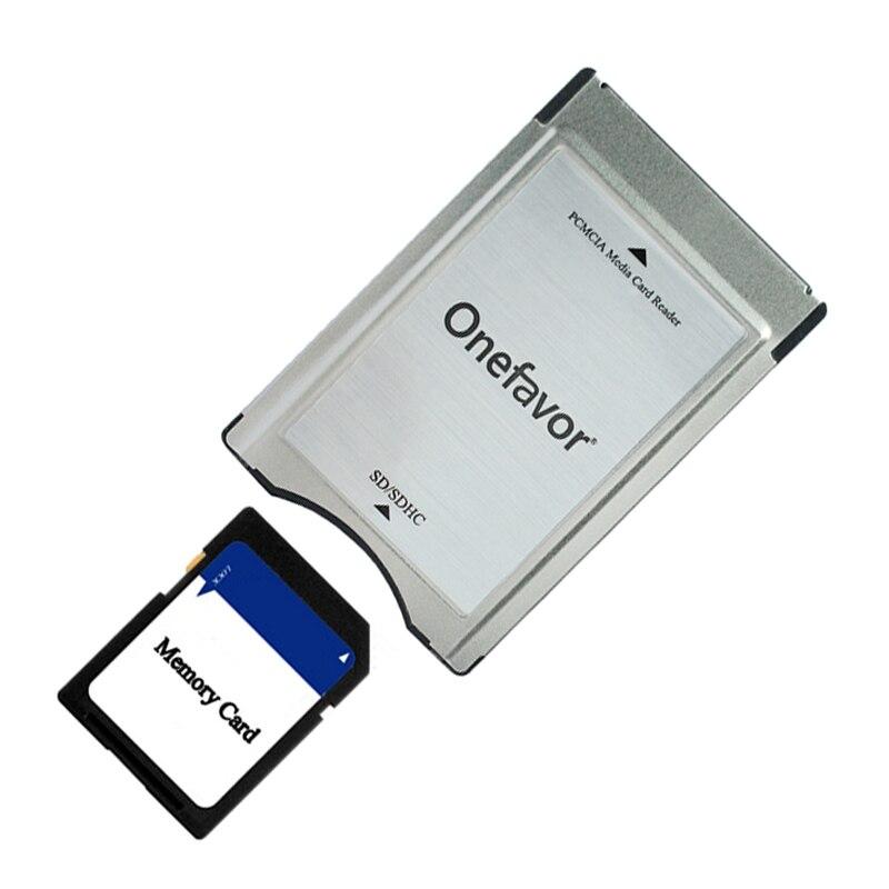 2019 nouvel an en gros qualité SD carte adaptateur Onefavor PCMCIA lecteur de carte pour Mercedes Benz MP3 carte mémoire adaptateur Promotion