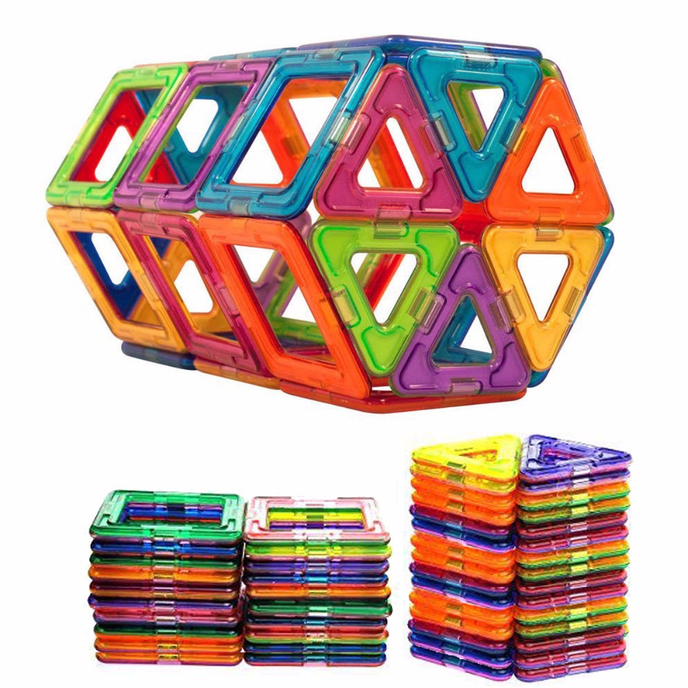50 pcs Magnetic Blocks Construction Model Magnetic Building Blocks Children DIY Educational Toys Kids Birthday Gift luxury gift blue mosque 3d puzzles model big building construction toys max level iq game huge house decoration collection model