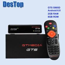 Receptor satélite gtmedia gts DVB S2 + android 6.0tv box 2 gb ram 8 gb rom wi fi embutido bt4.0 youtube gtmedia gts