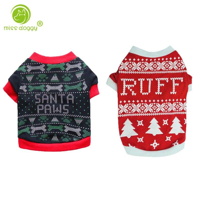 Новый дизайн, футболка для собак с принтом рождественской елки, Милая футболка со щенком, осенне-зимняя теплая одежда для маленьких собак, 10A