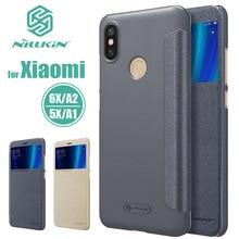 Для Xiaomi mi A2 mi A2 mi 6X NILLKIN Sparkle Роскошные Флип-кожаное окно Посмотреть задняя крышка чехол для телефона для Xiaomi mi 5X mi A1 5X принципиально