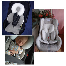 Waterproof baby stroller cushion mats car seat accessories head support belt shoulder-sided protective cover Neck Protection pad