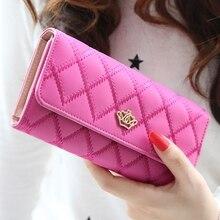 New Brand  Designer women Wallets Plaid fashion lady Purse  High Quality PU Leather Women Wallet  8 Colours