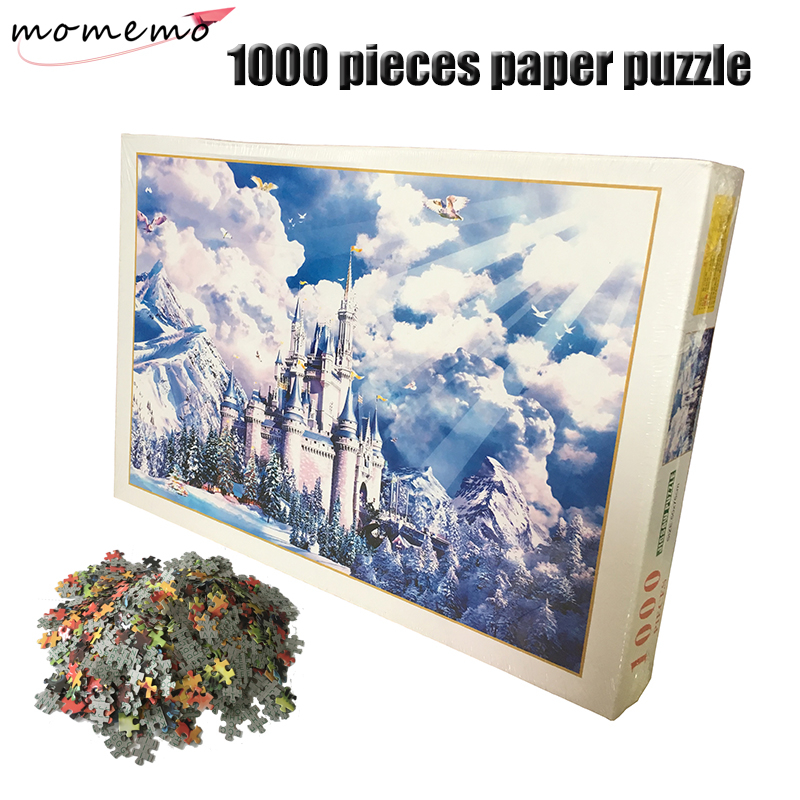 MOMEMO The Castle Common Paper Puzzles 1000 Pieces Adult Puzzle Assembling Jigsaw Toys for Children
