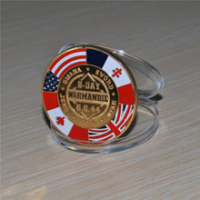 New style, D.Day Gold plated Normandie Arromanches Commemorative Challenge Coin, 30pcs/lot free shipping