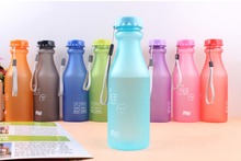 1PC 550ML Portable Candy Color Sports Soda Bottle Unbreakable Plastic Water High Quality BPA Free KB 1362