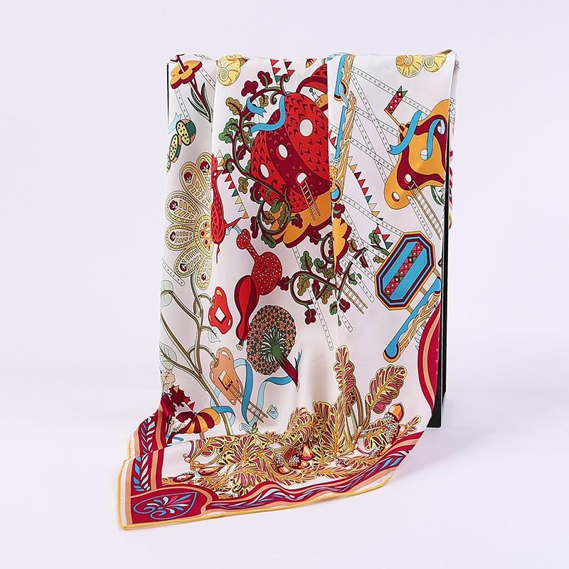 htwill90cm new fashion 90 cm silk twill square scarf high end corporate gift handkerchief 100. Black Bedroom Furniture Sets. Home Design Ideas