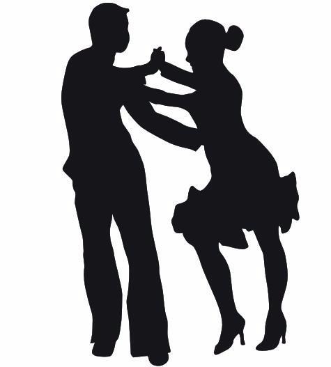 Uomo E Donna Ballo Latino Danza Murale Danza Adesivo Wall Sticker Sport Danza Sportiva Camera Da
