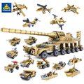 Juguetes de bloques de construcción de armas militares marca Kazi con 16 síntesis 1 super tanque compatibles con ladrillos para regalo de cumpleaños de niños