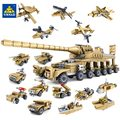 Kazi Building Blocks Toys Military Weapons 16 Assemblage1 Super Tanks Compatible With Self-Locking Bricks For Children Birthday