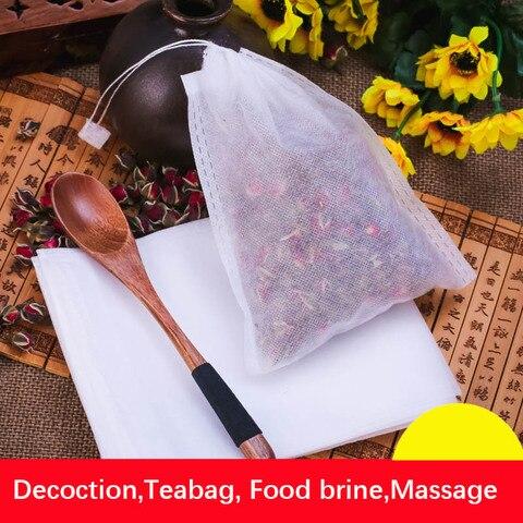 Filter tea bags With String Heal Seal Filter Paper for Herb Loose Tea Corn Fiber Drawstrings Tea Bags coffee bags 100pcs/lot Pakistan