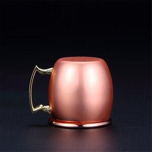 4 шт. 60 мл мини кружки для москского Мула Caneca чашки из чистой меди Cobre кружка с покрытием эспрессо посуда для напитков рукоятка для льда, пива, молока, чая, кружки