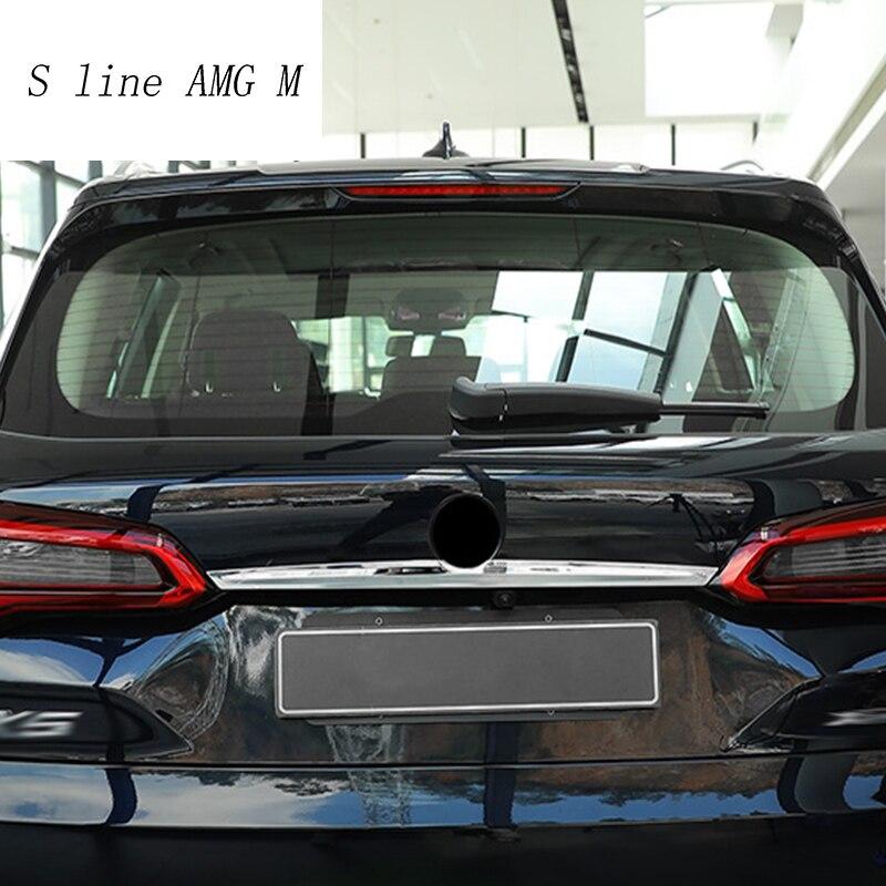 Style de voiture pour BMW X5 G05 2019 queue arrière coffre Logo couvercle moulage décoration couverture Sitckers garniture en acier inoxydable Auto accessoires - 6