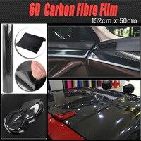 1* Durable Black 152*20cm Carbon Fibers Films Decal Car Stickers Accessory 6D