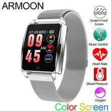 Smart Watch R17 Heart Rate Smart Bracelet Blood Pressure Watch Sleep Monitor Fitness Tracker Waterproof Color Screen Sports Band