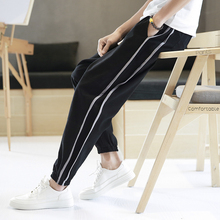 ФОТО 2018 spring and summer new men's youth pure color simple trousers casual pants business personality fashion temperament
