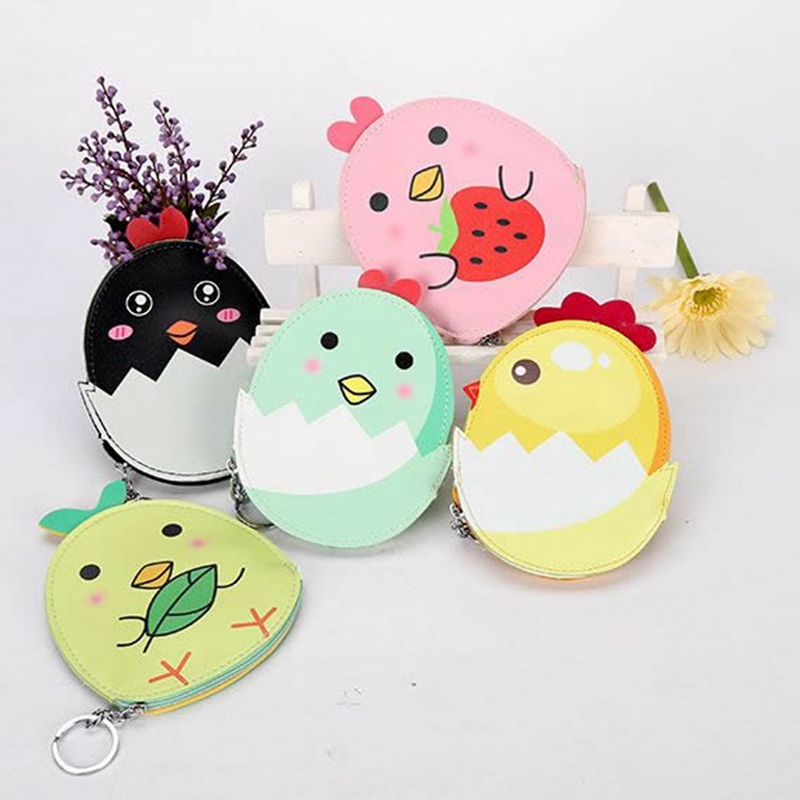 Kawaii Animal Chicks Coin Purses Holders Women Cute Cartoon PU Leather Pouch Kawaii Children Wallet Small Keys Bag Carteira xydyy 2017 new women coin purses or handbags cute cartoon pu leather mini pouch kawaii children wallet small bag for keys