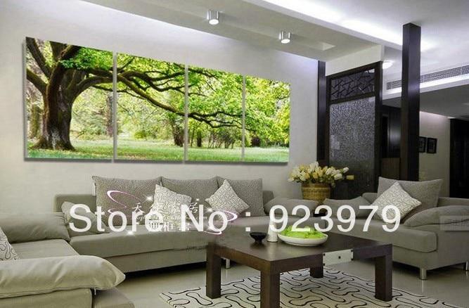 Koop 4 panelen woonkamer decoratieve Schilderij woonkamer