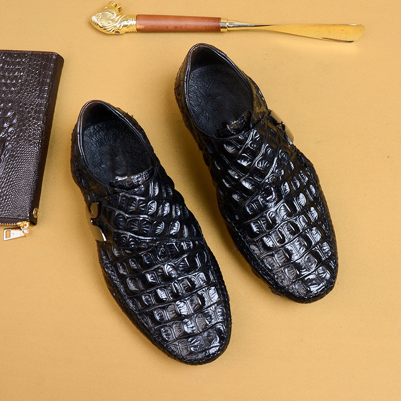 High Quality Genuine Leather casual shoes Mens breathable lazy fashion men casual natural leather loafers all match cowhide in Men 39 s Casual Shoes from Shoes