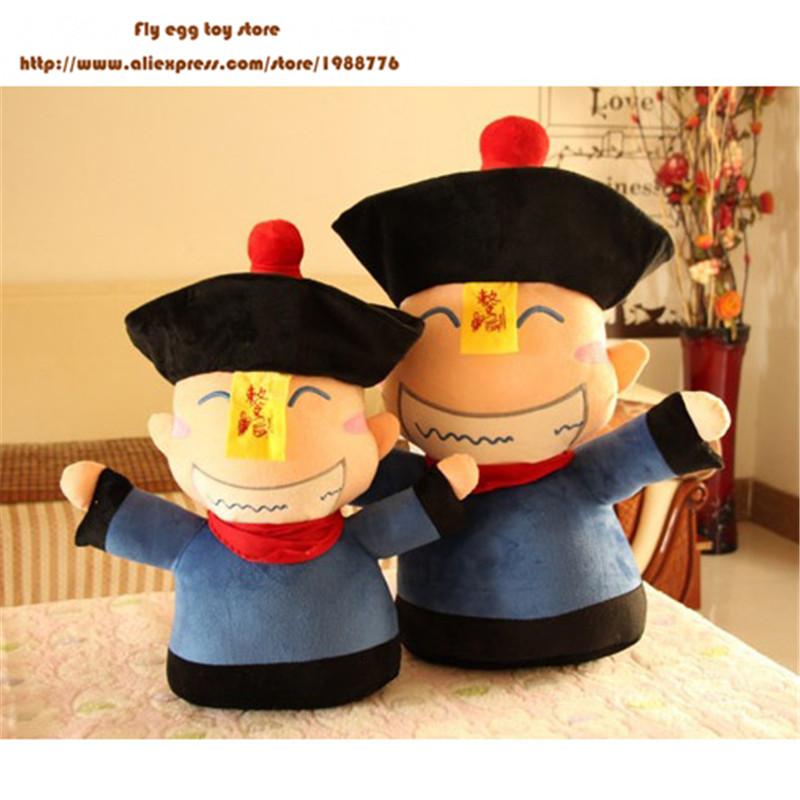 65cm Zombies plush Doll high quality halloween toys Ancient Chinese vampire plush doll kids Toy Birthday Gift large Cushion doll high end handmade chinese dolls ancient costume tang princess jin yang jointed doll articulated kids toys girls birthday gift