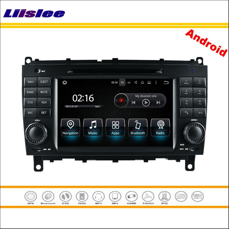 Liislee Android Multimedia For Mercedes Benz C Class W203 / CLK W209 2004~2007 Stereo Radio CD DVD Player GPS Navigation System eunavi 2 din 9 android 7 1 car radio stereo gps for mercedes benz c class w203 s203 c180 c200 clk class c209 w209 c208 w208