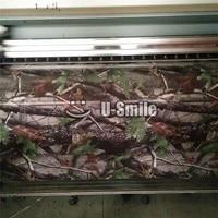 Камуфляжный рулон виниловой плёнки махровый дуб Камуфляжный uflage виниловая обертка для внедорожника грузовика джипа 30 м/рулон