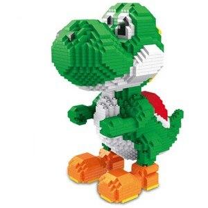 Image 2 - ZMS Magic Blocks Big size Yoshi Mini Blocks Mario Micro blocks Anime DIY Building Toys Juguetes Auction Figures Kids Gifts 3492
