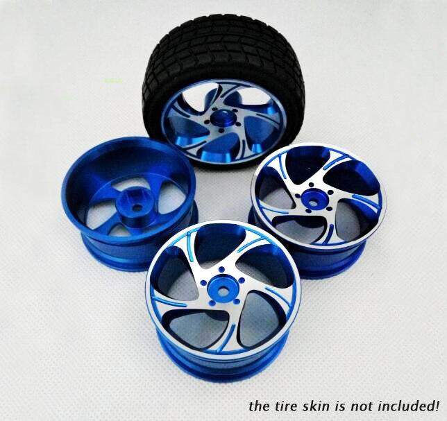 4 Pcs 1/10 RC Car Aluminium Alloy Metal Wheel Hubs for HSP 94122 94123 Sakura CS D4 TT02 1/10 On Road Car Crawler Truck Model 1 pair 02168 hsp rc 1 10 model 4wd on road car off road truck wheel axle 94122 94166