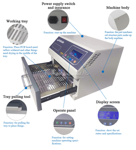 Image 5 - 적외선 SMD 솔더 기계 T962 BGA SMD SMT 재 작업 LY962 ly962a에 대 한 디지털 지능형 리플 로우 납땜 오븐 LY962C LY962D