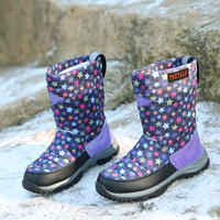 Kids Winter Snow Boots Colorful Winter Warm Waterproof Cotton In Tube Plus Size Girls Shoes Boys