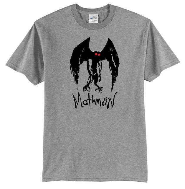 Mothman Moth Man T-shirt Point Pleasant W v  Paranormal Monster Folk Legend  Old Printed T Shirt Men Cotton T-shirt New Style