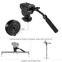 бесплатная алюминий штативные головки панорамные фотографии голова с действие жидкости перетащите головкой для канона Nikon Сони DSLR камера