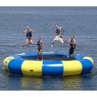 water trampoline 4 M diameter 0.6mm PVC inflatable trampoline or inflatable bouncer water park used