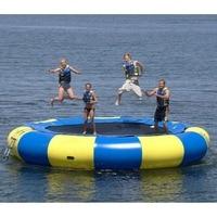 water trampoline 4 M diameter 0.6mm PVC inflatable trampoline or inflatable bouncer water park used