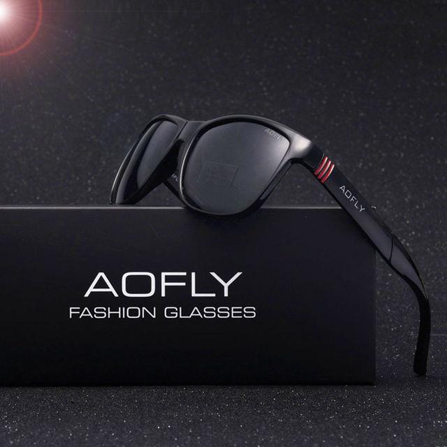 Aofly homens de design da marca clássico óculos de sol polarizado masculino óculos de condução óculos de pesca óculos de sol de luxo para homens oculos gafas af6021